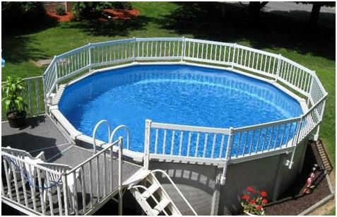 ... Above Ground Pool You Can Add Customized Features, Such As Wood Or Composite  Decking. Be Sure To Remember To Design The Entire Backyard Scope: Including  ...